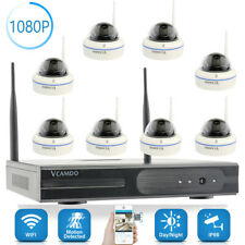 Vcamdo 8CH 2MP IP Security Camera System 1080P NVR WIFI Outdoor Network Metal