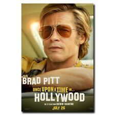 Once Upon a Time in Hollywood 12x18 24x36inch Brad Pitt Movie Silk Poster