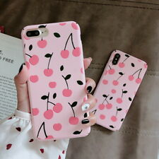 Ultra Slim Matte Cherry Hard Back Case Cover for iPhone Xs Max XR X 6s 7 8 Plus