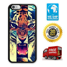 Tiger Roar Cross Hipster Case Cover For Samsung Galaxy / Apple iPhone 11 iPod
