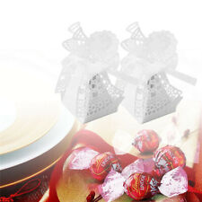 50PCS Cartoon Boxes Hollow Gift Candy Chocolate With Ribbon Sweet Favor Decor BS