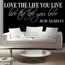 """Bob Marley /""""Live The Life You Love/"""" Quote Poster Print 7/""""x21/"""" On Matte Canvas"""