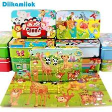 New 60 Pieces Wooden Puzzle Kids Blocks Colorful Educational Wooden Kids Toys