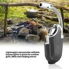 Outdoor Kitchen BBQ Flexible Refillable Butane Torch Flame Lighter Ignition Tool