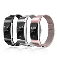 For Fitbit Charge 2 Magnetic Milanese Watch Wrist Straps Replacement Watch Band