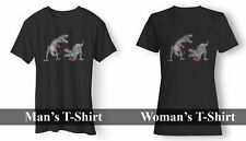 T REX DINOSAURS BOXING WOMAN'S AND MAN'S T-SHIRT USA SIZE