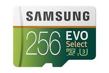 SAMSUNG EVO 256GB MICRO SDXC MICROSD MEMORY CARD HIGH Q4B for Smartphones