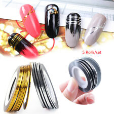 Silver Nail Art Striping Line DIY Manicure Nail Sticker Foil  Tape Stickers