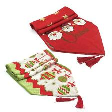 Christmas Dining Table Runner Cover Mat Tablecloth Festive Party Decoration