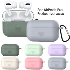 For Apple AirPods Pro Case Silicone Shockproof Earphone Protective Cover + Hook