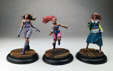 Hollow Waif Malifaux / D&D Wyrd sorceress monk rogue wench  / Painted miniatures