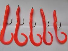 CHARTREUSE  FIRE TAILED WRECKING SHADS 1 X PACK OF  6 X 4 inch BLACK