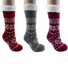 Ladies Owl Double Insulated Extra Warm Thermal Lounge Bed Socks by Co-Zees