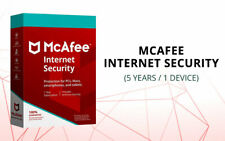 McAfee Internet Security 2020 5 Years Genuine Licence 1PC or MAC- Latest Edition