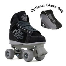 Rio Roller Lumina Quad Roller Skates UK 13J-8A Black/Grey - Optional Skate Bag