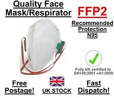 Virus Face Mask FFP2 N95 Filter Fold Flat Respirator