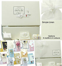 PERSONALISED Holy Communion/Confirmation Linen Keepsake Memory Box Inc Extras