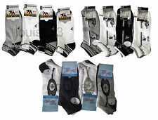 S07 MENS 24prs BIG FOOT COTTON RICH TRAINER LINER SOCKS GYM SPORTS WEAR 11-14