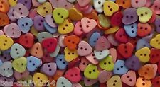 25/50/100 RESIN HEART BUTTONS -12MM # RED/PINK/BLUE/GREEN/YELLOW/PURPLE/ORANGE