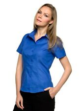 °°° Kurzarm Oxford Bluse von KUSTOM KIT ° ladies workwear shirt ° damen °°° NEU
