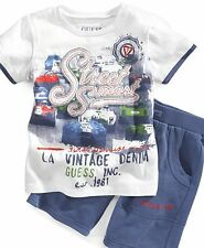 NWT Authentic Guess Baby Boys' Graphic Print T-Shirt & Shorts Set 12M 18M 24M