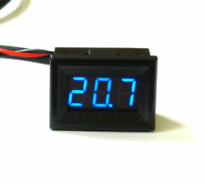 Mini LED Thermometer -30°+125°C klein hell Digitalthermometer genaues blau, grün