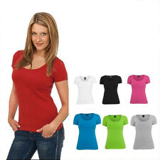 URBAN CLASSICS DAMEN LADIES BASIC  T-SHIRT TOP SHIRT 7 FARBEN