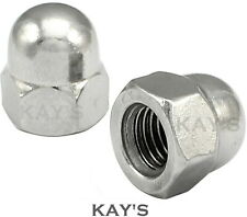 DOME NUTS TO FIT METRIC BOLTS M3,4,5,6,8,10,12,14,16,18,20mm A2 STAINLESS STEEL