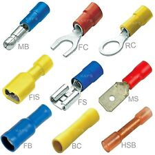 INSULATED CRIMP TERMINALS RING SPADE BUTT FORK BULLET ELECTRICAL CONNECTORS
