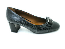 SCARPE MELLUSO DONNA DECOLTE'  ELEGANTE M5090 NERO-GRIGIO MADE IN ITALY SHOES