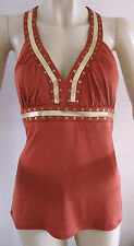 NEW LADIES RED STUDDED SLEEVELESS TOP BY BABY PHAT SIZE 14/XL