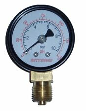 "Manometer Rohrfeder 4  6 10 16 25bar 1/8"" 1/4"" 3/8"" Ø 40 50 60 80mm axial radial"