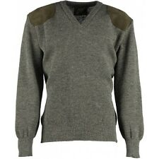bade36c34dd06a VEE NECK SHOOTING SWEATER   JUMPER. 100% BRITISH WOOL WITH SUEDE PATCHES.