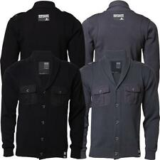 Mens Dissident Knitwear Top Cardigan Jumper Cotton Sweater MB 24046