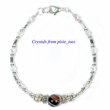 Delicate Silver Plate Bracelet with Semi Precious Gemstone - Healing Crystals