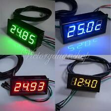 Digital Multimeter Panel Meter Voltmeter Spannungsanzeige LED Thermometer Uhr