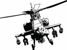 LARGE APACHE HELICOPTER ART BEDROOM WALL MURAL STICKER TRANSFER VINYL V7