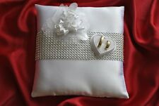 Wedding ring cushion / pillow / decoration of roses and crystals / rings holder