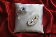Wedding ring cushion with decoration of roses/ rings holder /59 colors/NEW