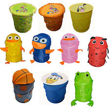 Pop-up Kids Animal Foldable Storage Wash Laundry Bin Toys Tidy Basket Ottoman UK