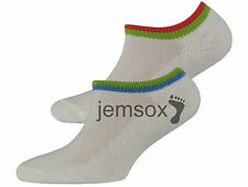 6 Pairs Baby Boys White Towelling Trainer UK Made Socks Liners - Size 3-5.5
