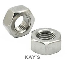 FINE PITCH THREAD HEXAGON FULL NUTS STAINLESS STEEL M8 M10 M12 M14 M16 M18 M20