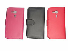 BLACK FLIP  LEATHER WALLET CASE WITH CARD HOLDER COVER FOR SONY XPERIA SP M35H
