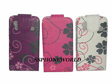FLORAL FLOWER LEATHER CASE FLIP COVER POUCH FOR SAMSUNG GALAXY ACE S5830  S5839