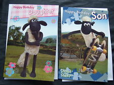 SHAUN THE SHEEP  ~ OFFICIAL BIRTHDAY CARD L@@K Great Graphics inside + Out