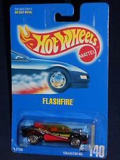 Hot Wheels Mainline Early-Mid 90s Blue Card #140 Flashfire Black w/ UHs