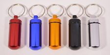 Brand New Waterproof Aluminum Medicine Pill Container Key Chain Ring 7 Colors