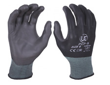 10 x PU Palm Coated Precision Work Gloves - Multi Purpose