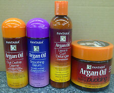 Fantasia IC Hair Care Argan Oil Products - Curl Creme/Serum/Detangler/Pudding