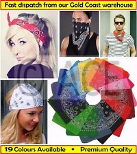 100% Cotton Paisley BANDANA Headwrap Biker Mask Scarf Head Wrap Paisely Bandanas